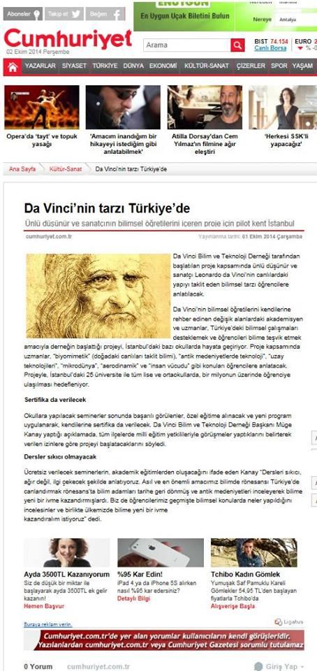 cum Da Vinci'nin Tarzı Türkiye'de